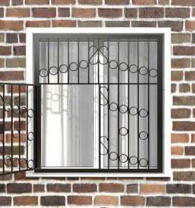 Фото 10 - Распашная решетка на окно РР-0027.
