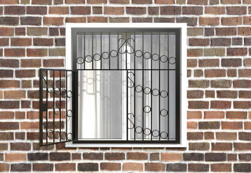 Фото 2 - Распашная решетка на окно РР-0027.