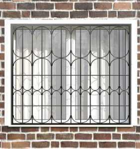Фото 22 - Сварная решетка на окно РС0036.