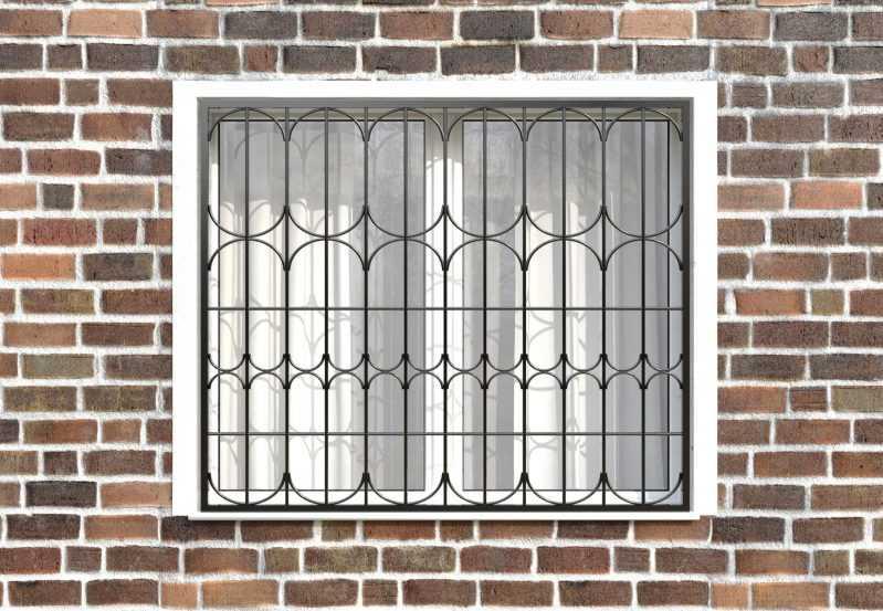 Фото 1 - Сварная решетка на окно РС0036.