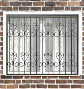 Фото 12 - Сварная решетка на окно РС0016.