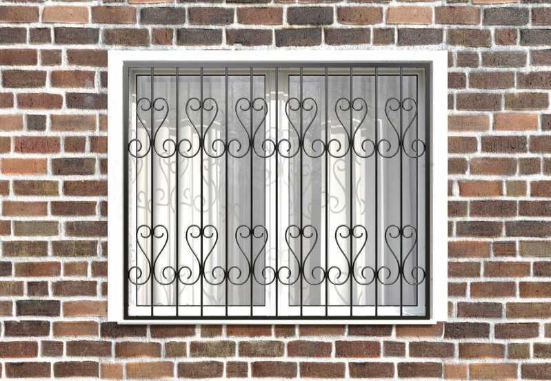 Фото 1 - Сварная решетка на окно РС0016.