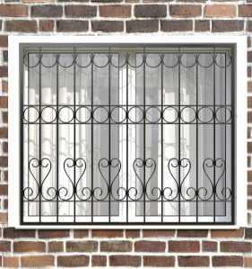 Фото 18 - Сварная решетка на окно РС0026.
