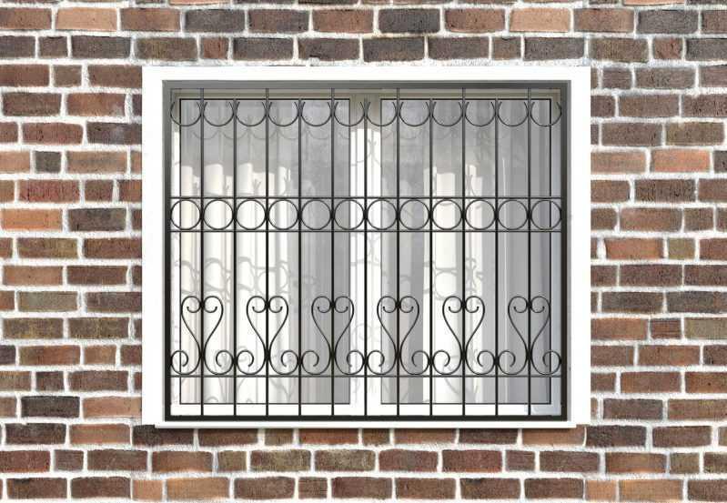 Фото 1 - Сварная решетка на окно РС0026.