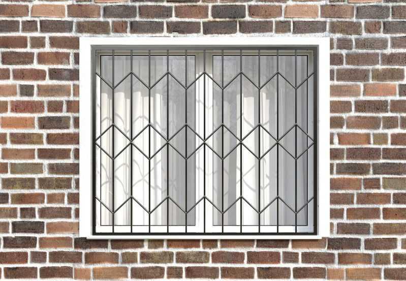 Фото 1 - Сварная решетка на окно РС0009.