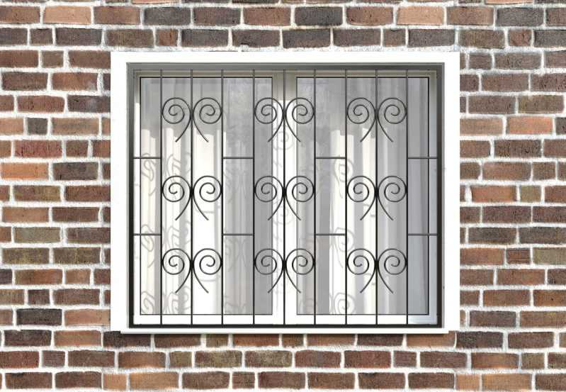 Фото 1 - Сварная решетка на окно РС0021.