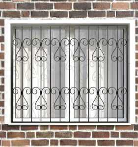 Фото 10 - Сварная решетка на окно РС0017.
