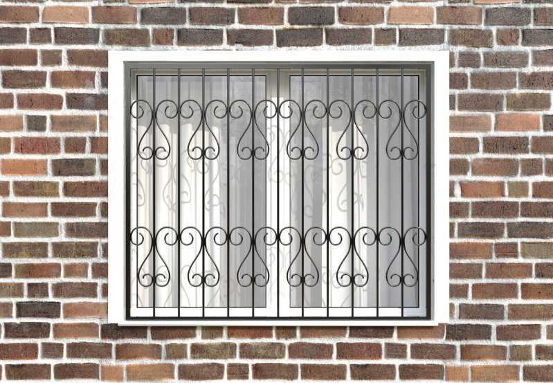 Фото 1 - Сварная решетка на окно РС0017.