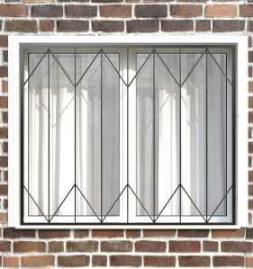 Фото 18 - Сварная решетка на окно РС0005.