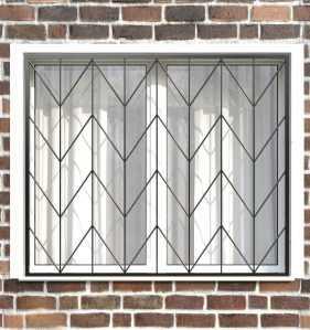 Фото 6 - Сварная решетка на окно РС0010.