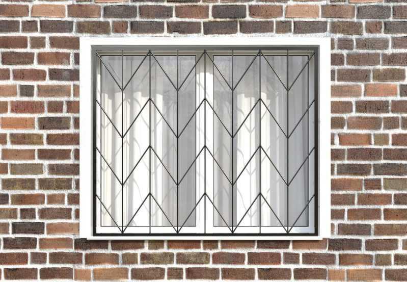 Фото 1 - Сварная решетка на окно РС0010.