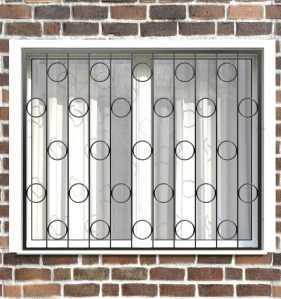 Фото 16 - Сварная решетка на окно РС0007.
