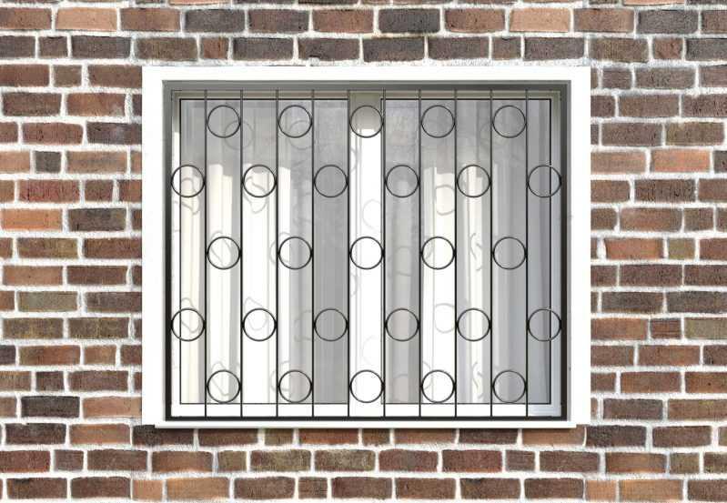 Фото 1 - Сварная решетка на окно РС0007.