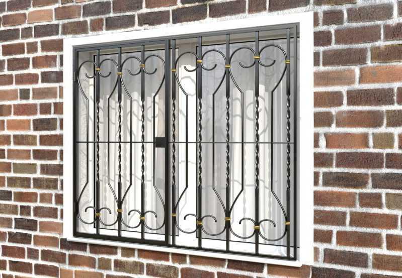 Фото 3 - Распашная решетка на окно РР-0040.