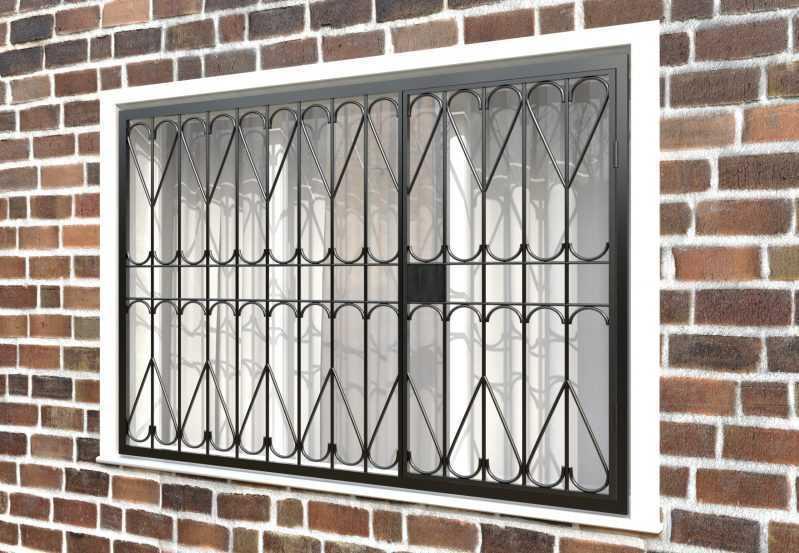 Фото 3 - Распашная решетка на окно РР-0026.