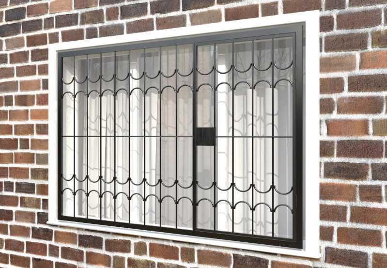Фото 3 - Распашная решетка на окно РР-0025.