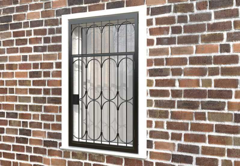 Фото 3 - Распашная решетка на окно РР-0024.