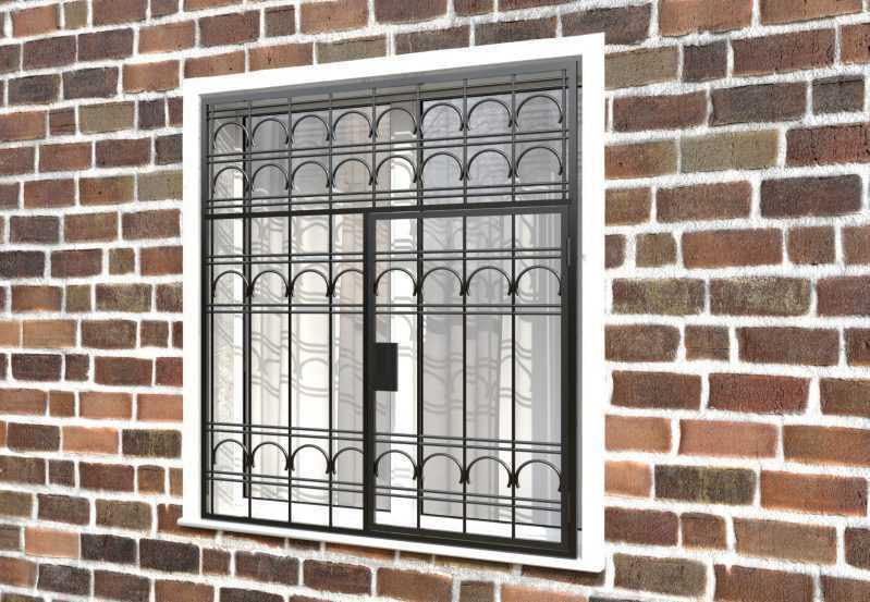 Фото 3 - Распашная решетка на окно РР-0023.