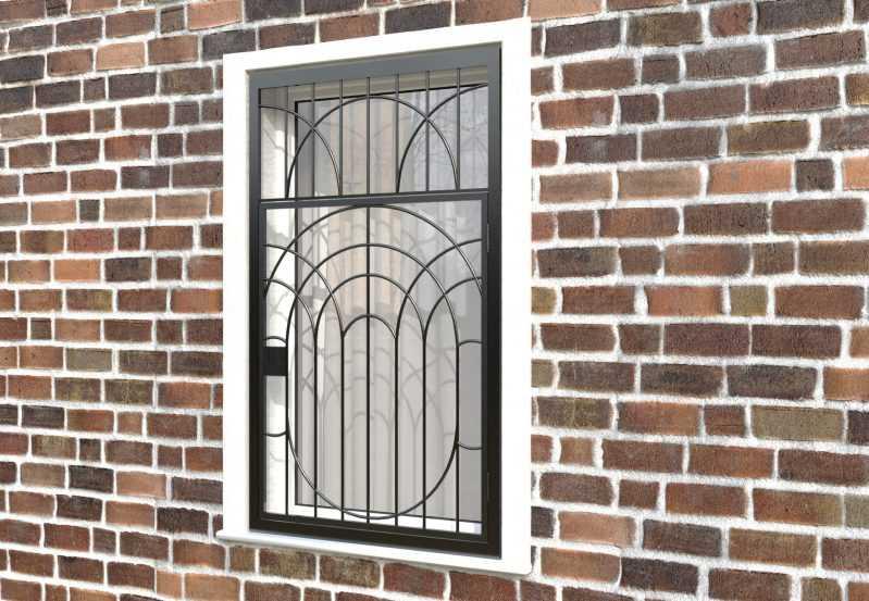 Фото 3 - Распашная решетка на окно РР-0022.
