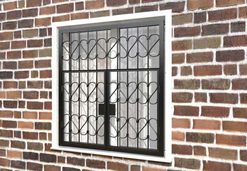 Фото 3 - Распашная решетка на окно РР-0009.
