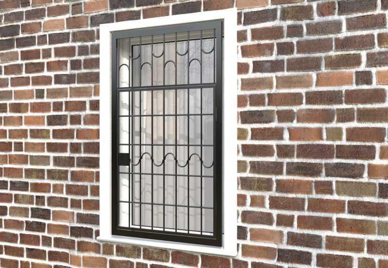 Фото 3 - Распашная решетка на окно РР-0010.