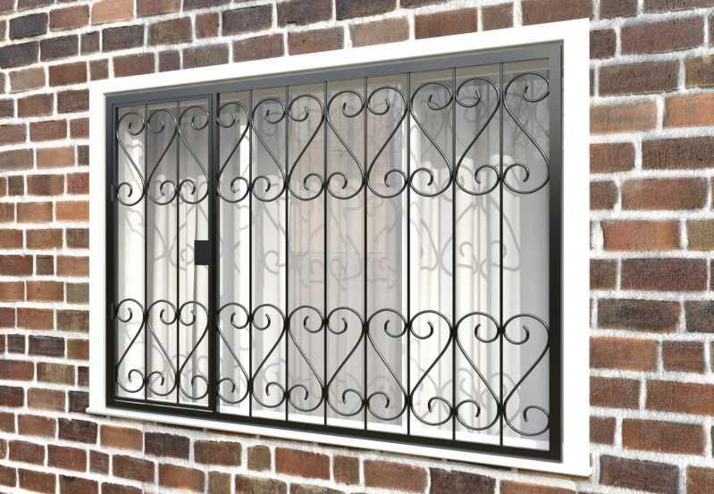 Фото 3 - Распашная решетка на окно РР-0021.