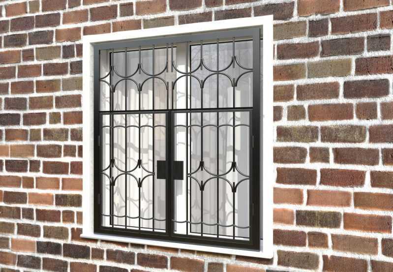 Фото 3 - Распашная решетка на окно РР-0012.