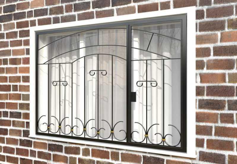 Фото 3 - Распашная решетка на окно РР-0038.