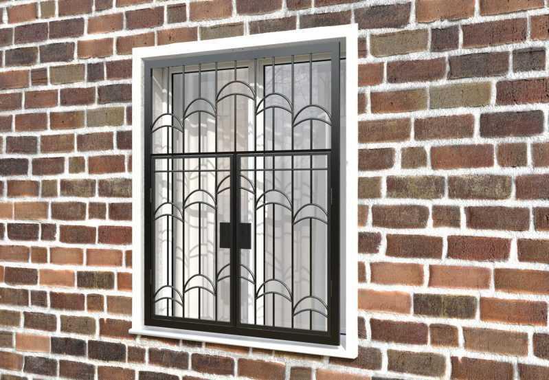 Фото 3 - Распашная решетка на окно РР-0013.