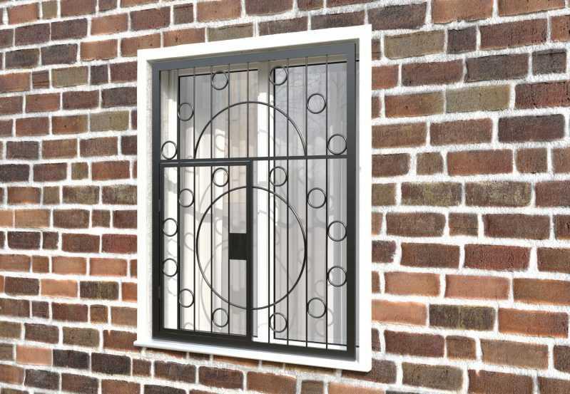 Фото 3 - Распашная решетка на окно РР-0014.