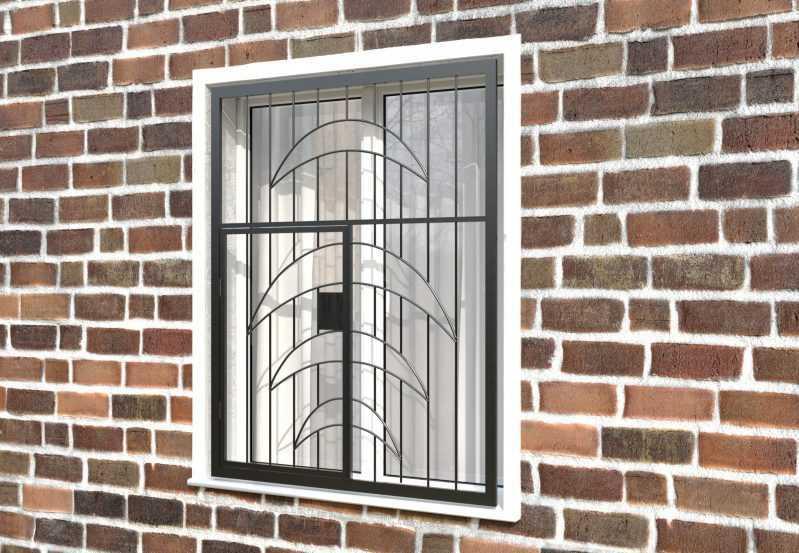 Фото 3 - Распашная решетка на окно РР-0015.