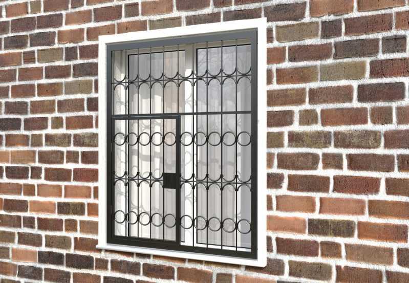 Фото 3 - Распашная решетка на окно РР-0016.