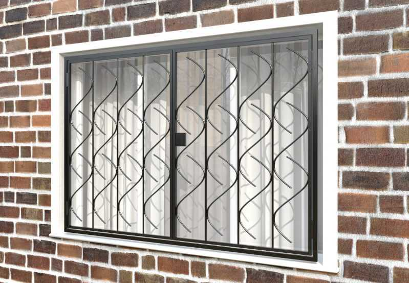 Фото 3 - Распашная решетка на окно РР-0017.