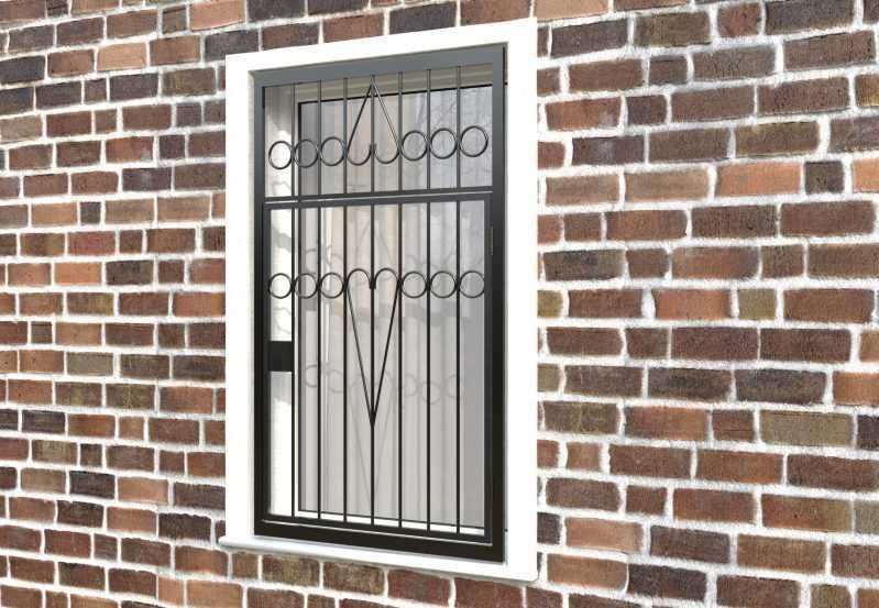 Фото 3 - Распашная решетка на окно РР-0008.
