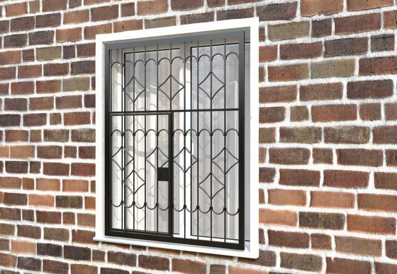Фото 3 - Распашная решетка на окно РР-0007.