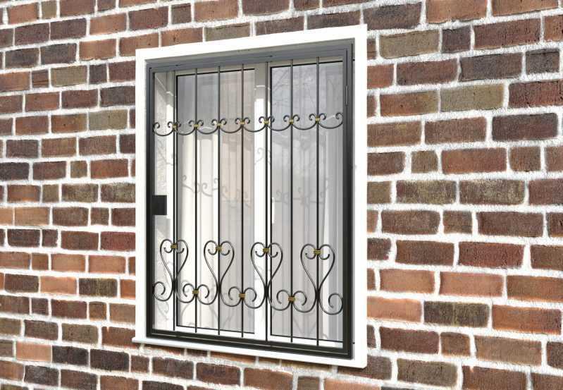 Фото 3 - Распашная решетка на окно РР-0020.