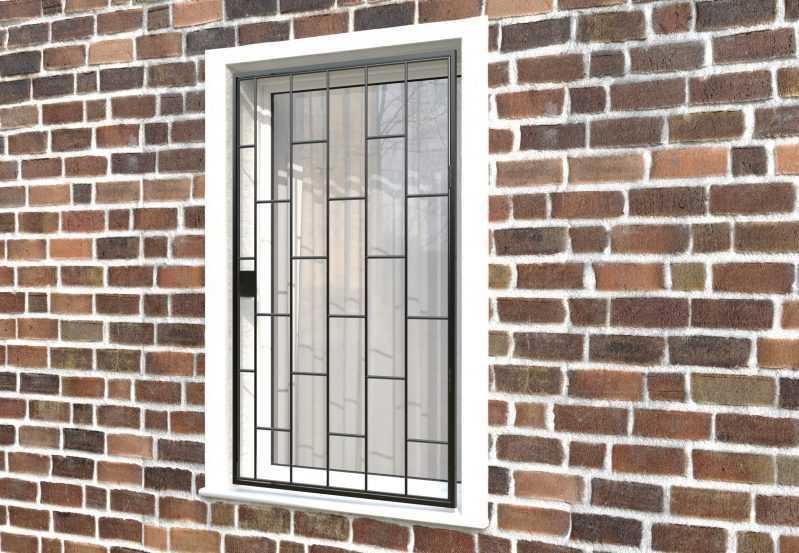 Фото 3 - Распашная решетка на окно РР-0001.