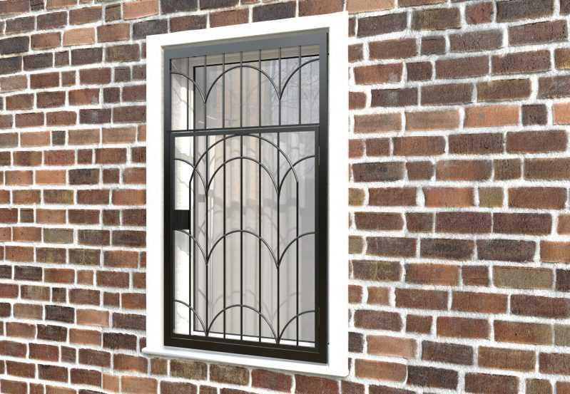 Фото 3 - Распашная решетка на окно РР-0033.