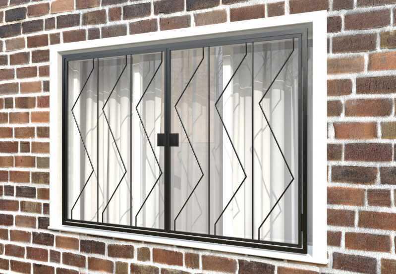 Фото 3 - Распашная решетка на окно РР-0006.