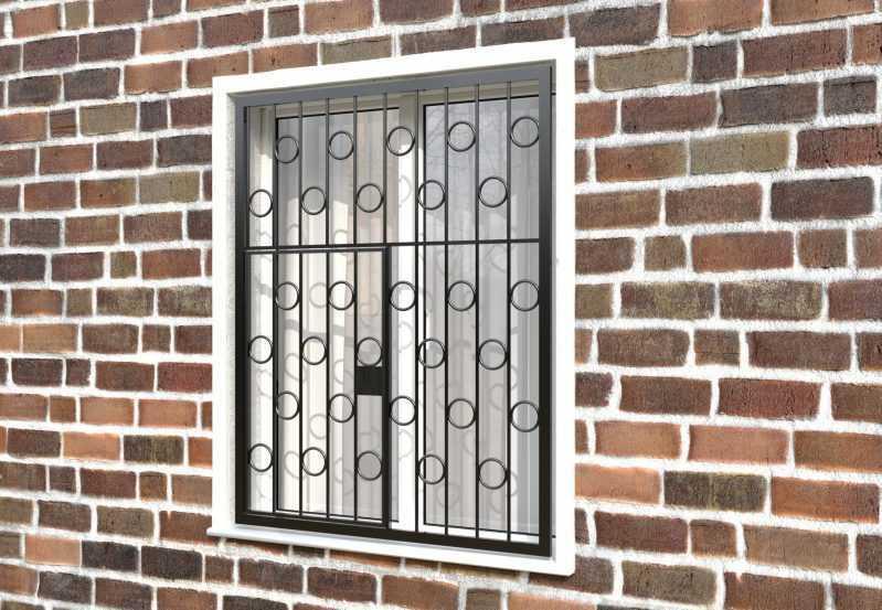 Фото 3 - Распашная решетка на окно РР-0004.