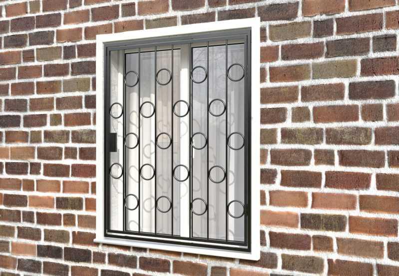 Фото 3 - Распашная решетка на окно РР-0005.