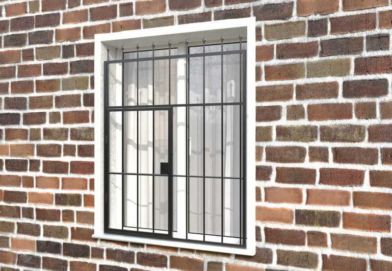 Фото 3 - Распашная решетка на окно РР-0018.