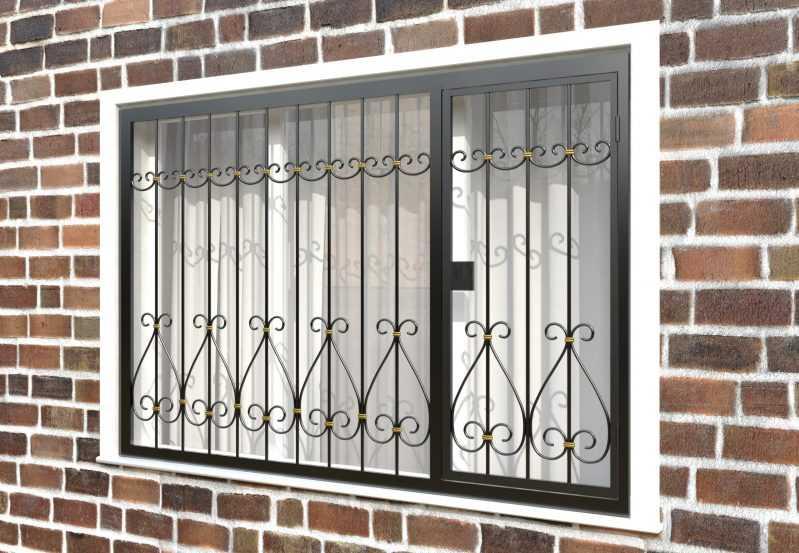 Фото 3 - Распашная решетка на окно РР-0042.