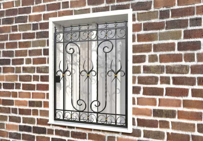 Фото 3 - Распашная решетка на окно РР-0041.