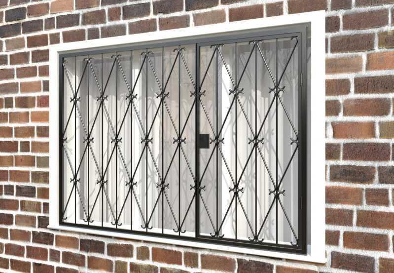 Фото 3 - Распашная решетка на окно РР-0019.