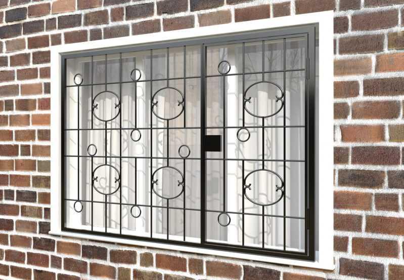 Фото 3 - Распашная решетка на окно РР-0037.