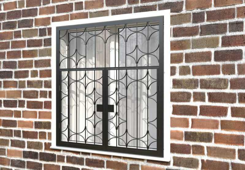Фото 3 - Распашная решетка на окно РР-0031.