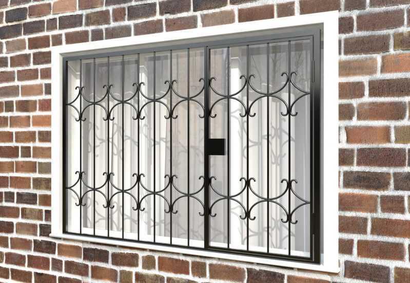Фото 3 - Распашная решетка на окно РР-0036.