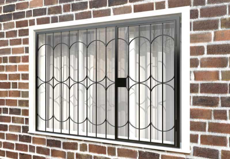Фото 3 - Распашная решетка на окно РР-0035.