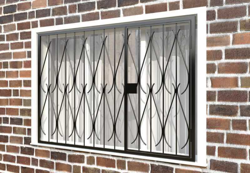 Фото 3 - Распашная решетка на окно РР-0034.